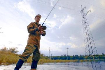 Ловля рыбы и линии электропередач,фото